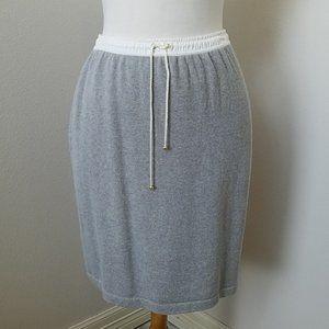 Vintage St. John Sport Grey Knit Skirt